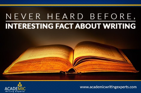Never Heard Before, Interesting Facts About Writing